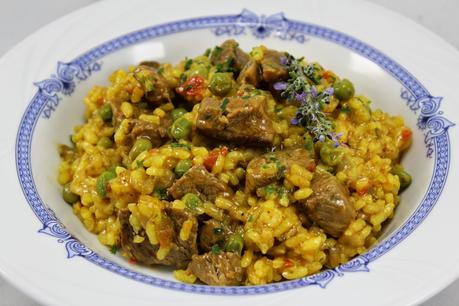 Arroz con ternera