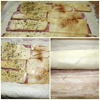 Rollos de Hojaldre con beicon y queso