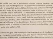 Warhammer Visions cambia próximo mes:Nuevo formato doble hojas