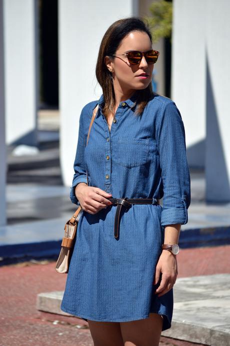 Outfit | Denim dress - Paperblog