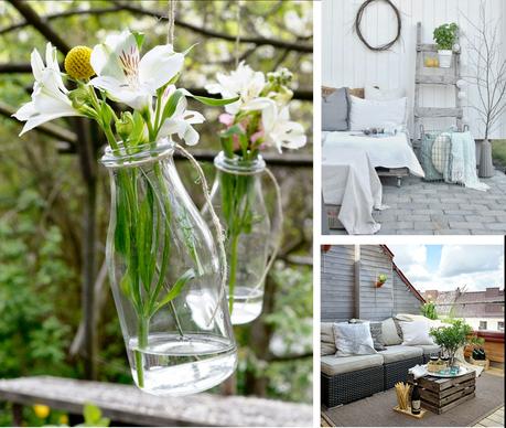 Ideas para decorar reciclando en el jard n y terraza - Decorar terrazas reciclando ...