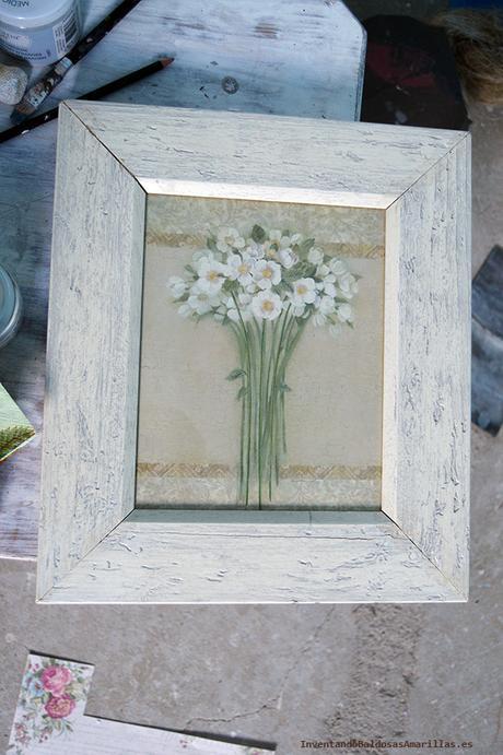 Inventando el finde 19 recuperar marcos usados paperblog - Decorar marcos de madera ...