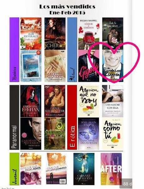 SI TE QUEDAS EN ESCOCIA uno de los libros más vendidos de enero-febrero