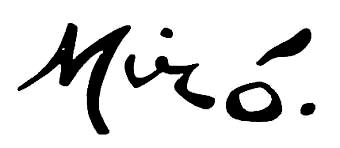 Joan Miró firma
