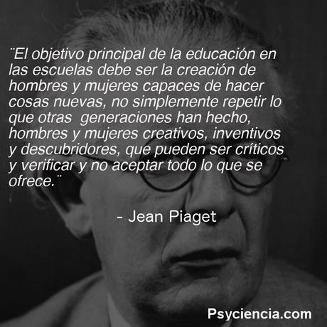 Jean Piaget sobre la educación