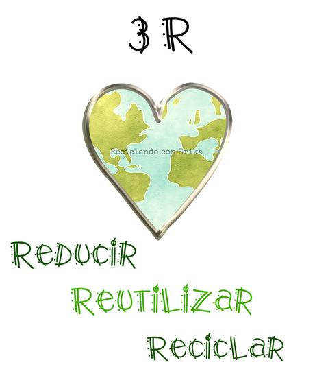 Reducir, Reutilizar y Reciclar para vivir en un mundo mejor. Hola soy la Tierra, sí, sí el planeta Tierra, donde vivís. Hay tres palabras que empiezan por erre que me encantan.