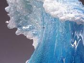 Olas cristal rompiendo congeladas elegantes búcaros