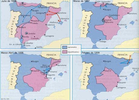 14 4 La Guerra Civil La Sublevación Militar Y El Estallido De La Guerra El Desarrollo Del Conflicto Etapas Y Evolución De Las Dos Zonas Paperblog