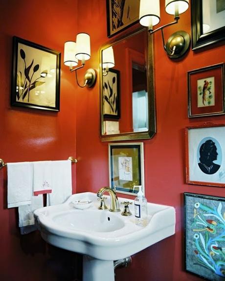 Baño Relajante Jacuzzi:10 Baños en naranja y blanco – Paperblog