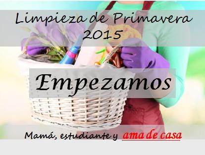 Limpieza de primavera 2015 ¡Empezamos!