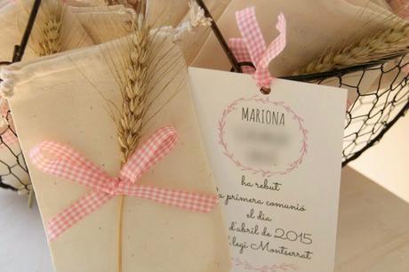 finde frugal: los recordatorios de la primera comunión de Mariona