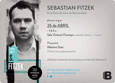 Entrada express: ¡Sebastian Fitzek en la FIL de Buenos Aires!