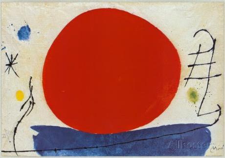 Joan Miro, sol rojo