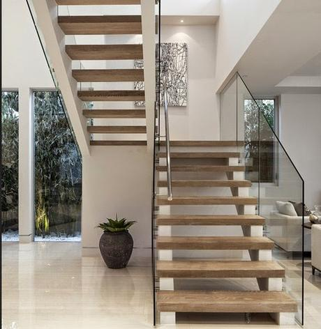 Las escaleras minimalistas paperblog for Soluciones para escaleras