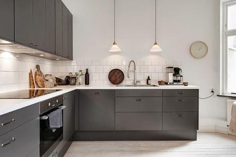 Ultimas tendencias en cocina mobiliario gris y encimera - Ultimas tendencias en cocinas ...