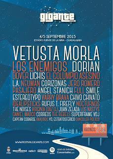 Festival Gigante 2015: Vetusta Morla, Los Enemigos, The Rebels, Analogic, Correos, Capitán Cobarde...