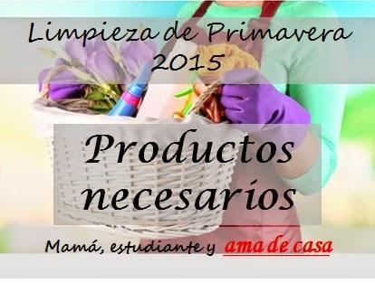 Limpieza de primavera 2015 (Productos necesarios)