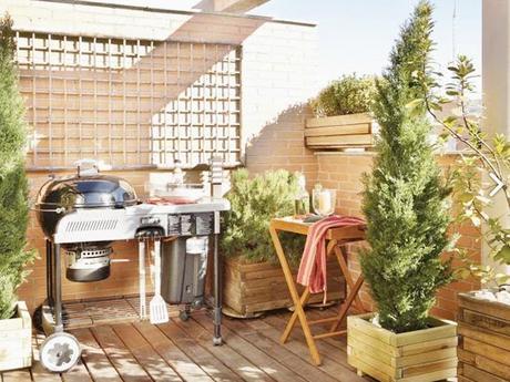 Inspiraci n deco decora tu terraza o jard n con una barbacoa paperblog Decorar terrazas barato