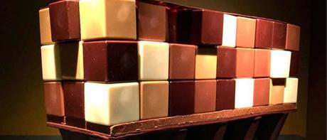 Muebles y edificios de chocolate