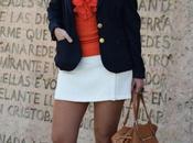 Navy blazer orange