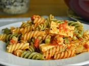 Pasta salsa tomate tofu Receta vegetariana