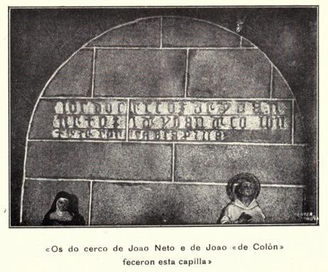 Inscripción en la Basílica de Santa María.