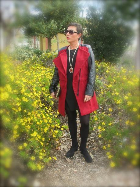 fashion, moda, tienda online asiática, tienda online, chaqueta, abrigo, faux leather, burgundy coat, coat, romwe,