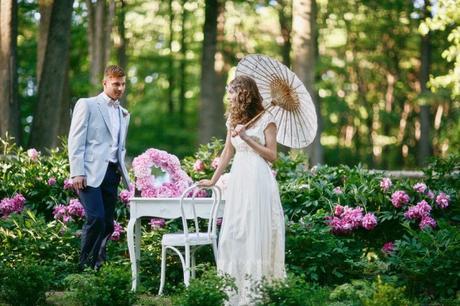 Ideas para bodas de primavera\u2026una boda al aire libre y de lo más fresca