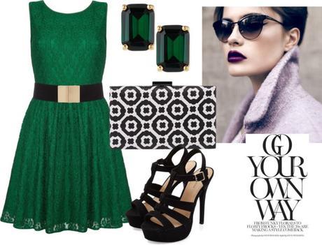 Negro vestido de verde