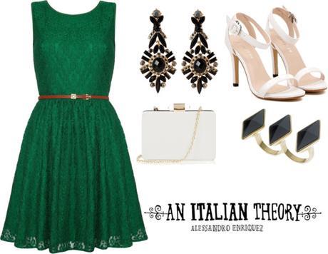 Que zapatos usar con un vestido verde