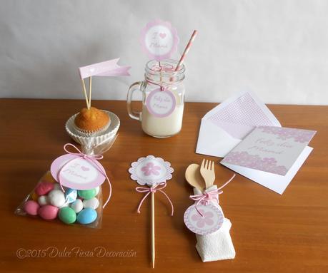 Kit imprimible y tarjeta para el d a de la madre paperblog - Decoracion para el dia de la madre ...