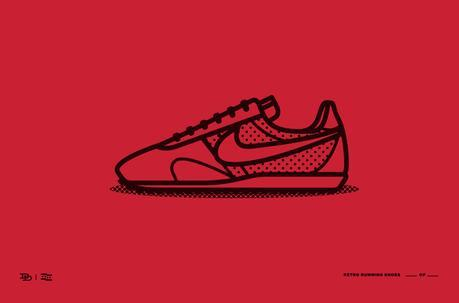 Dee Duncan, illustration, ilustración, Vintage running shoes