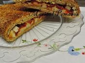 Empanada integral surimi, queso pimientos piquillo.