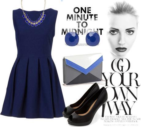 Como combinar vestido azul marino con blanco – Vestidos de noche ...