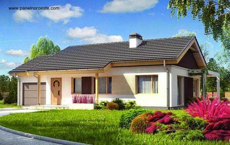 25 modelos de casas modulares paperblog - Modelos de casas de una planta ...
