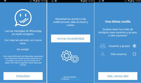Evita el doble check azul en WhatsApp con esta app y sin desconectar Internet