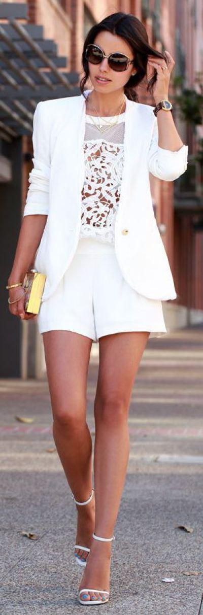 white shorts outfits