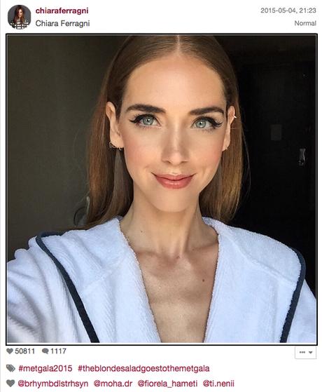 Chiara Ferragni en su propia cuenta de Instagram (foto de Vogue)