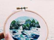 artista borda fotos paisajes alrededor mundo