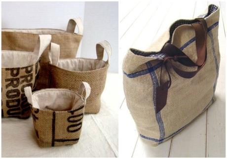 Diy con tela de saco paperblog - Tela de saco ...