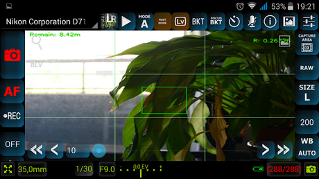 App DslrDashboard para Wifi Nikon