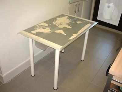 Un vinilo en la mesa de cocina de marta paperblog - Vinilos para mesas ...