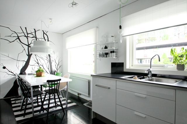 Cocina en blanco y negro paperblog - Cocinas en blanco ...