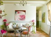 casa campo verde rosa