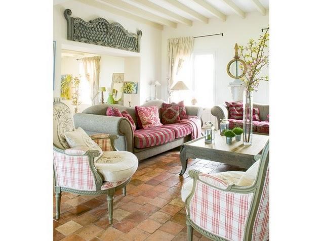 Una casa de campo en verde y rosa paperblog for Casa y campo muebles