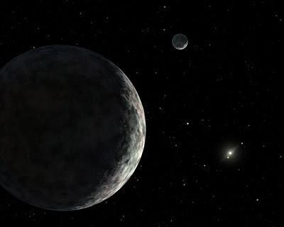 Los hielos de nitrógeno y metano dominan la superficie de Eris