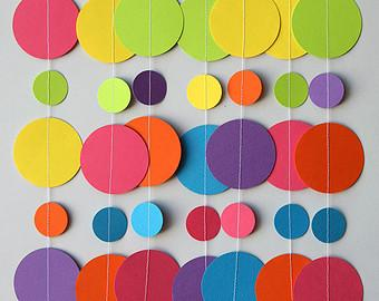 guirnaldas de papel decoracin para cumpleaos
