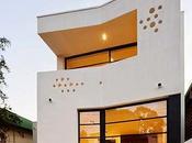 Casa urbana plantas nivel soterrado Australia.