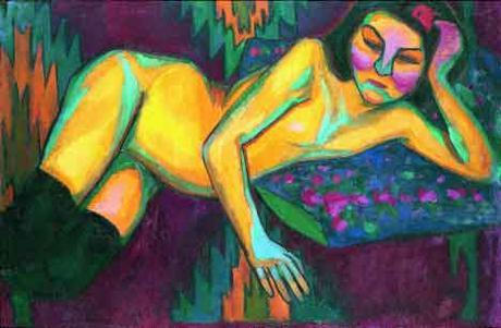 'Yellow Nude', 1908. Sonia Delaunay.