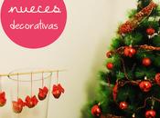 decoración: Nueces navideñas
